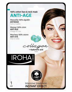 Cotton Face and Neck Mask Anti-age-Collagen 8436036431549