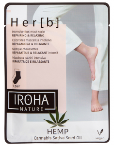 Foot Mask Socks - Cannabis Seed Oil 8436036433628