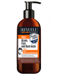 Men Care Barber 3in1-Beard, Face & Hair Wash 5060565100701